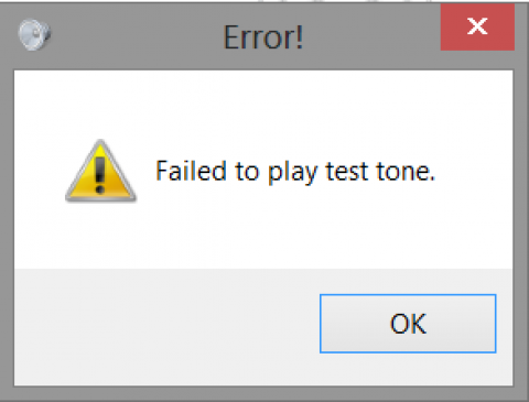 Failed to play test tone [Windows 8]