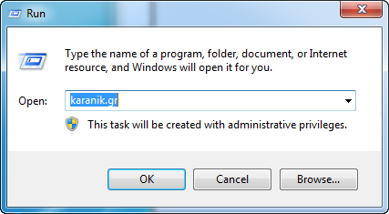List of Run Commands in Windows 7 - karanik gr