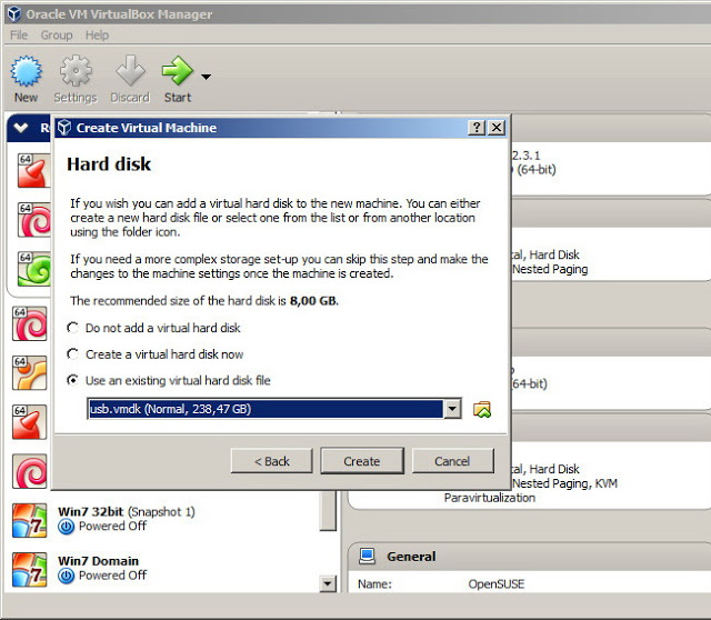 virtualbox create vm