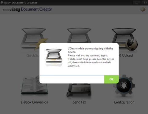 Easy Document Creator scan problem